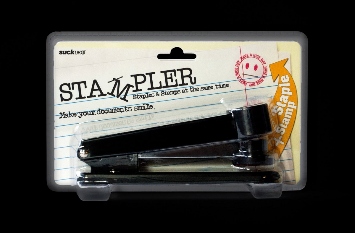 Stampler in its packet