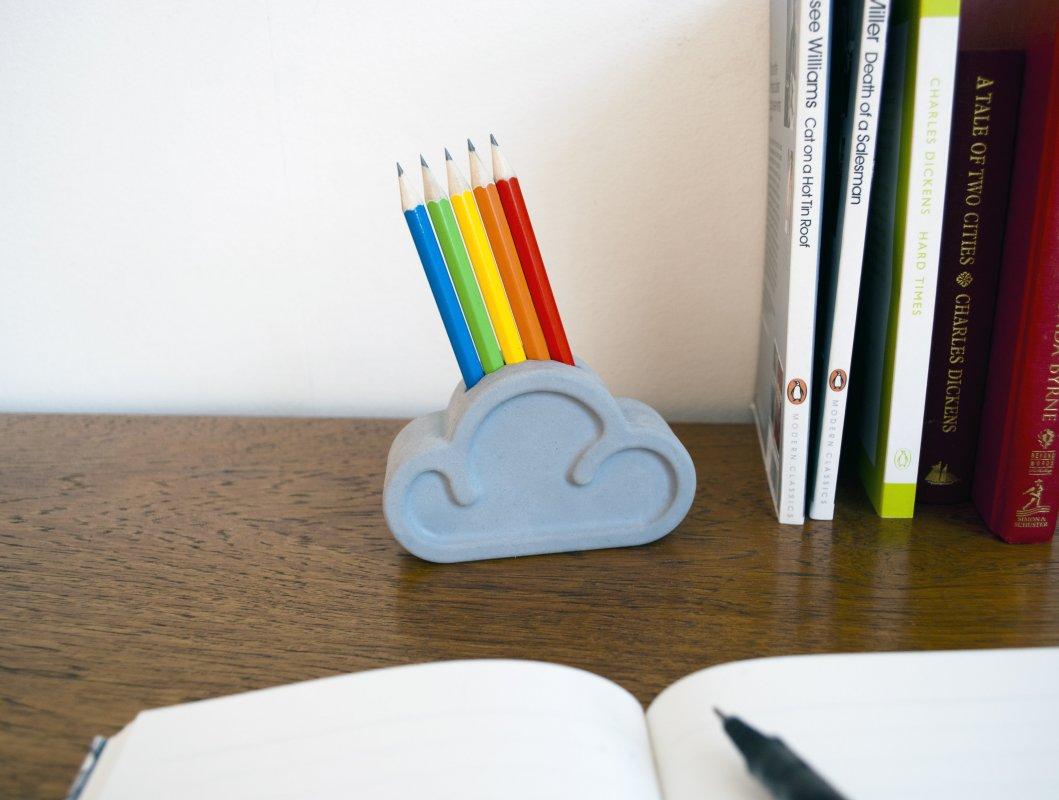 Cloud Pencil and Eraser set in situ