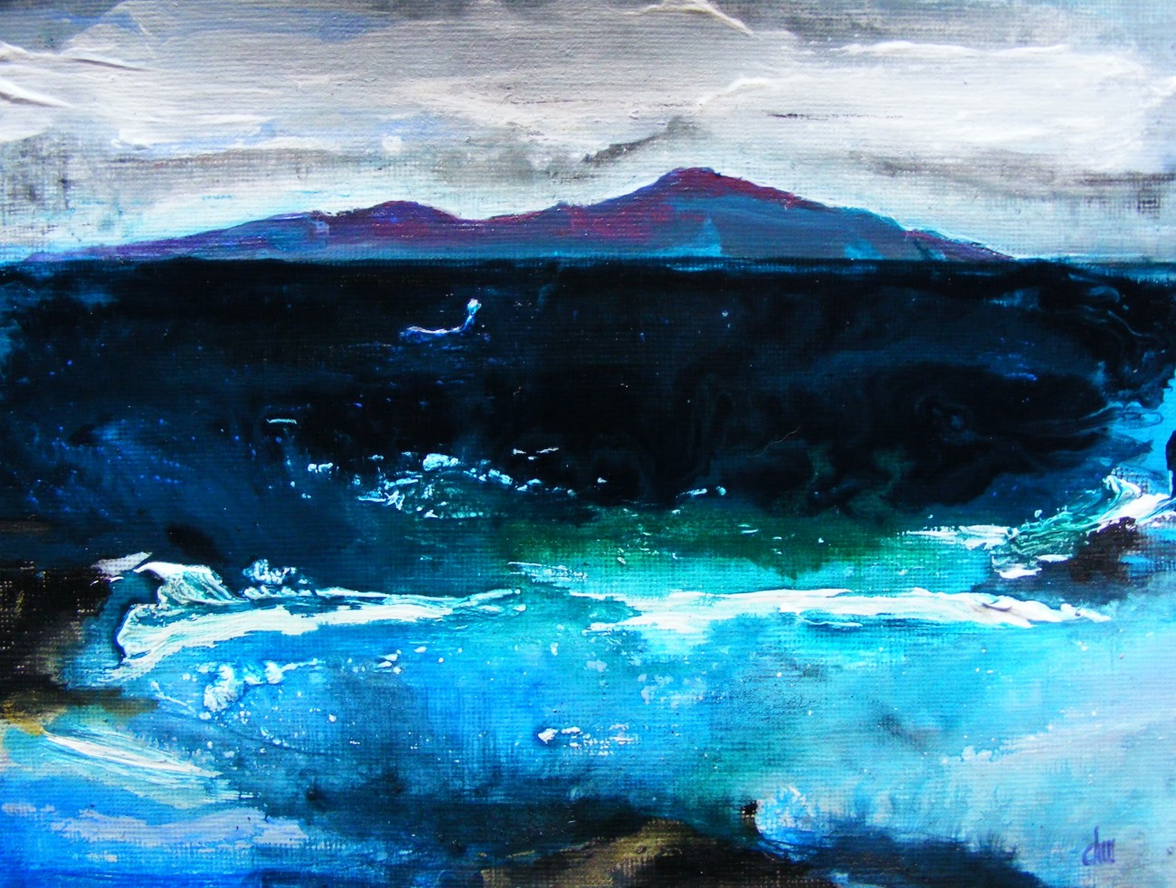 Winter Seascape by Deborah Watkins
