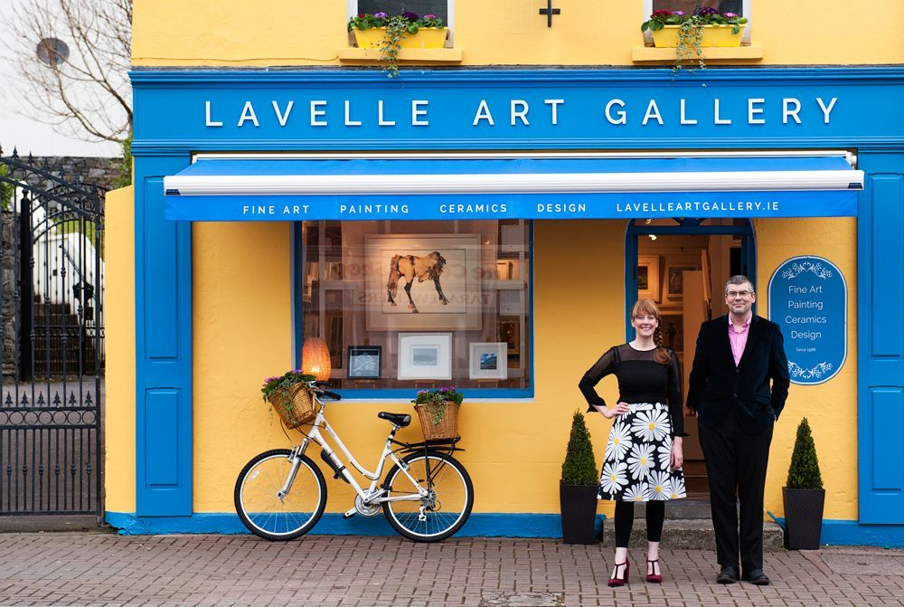 Gavin Lavelle and Deborah Watkins outside the Lavelle Art Gallery