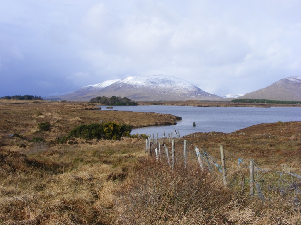 Snowy landscape in Connemara
