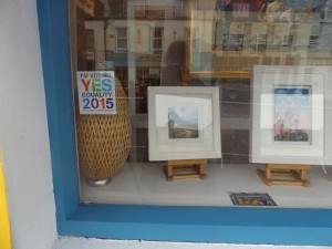 The gallery window with YES  equality sign