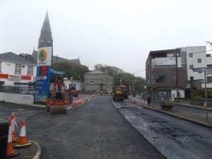 Road resurfacing on Main Street