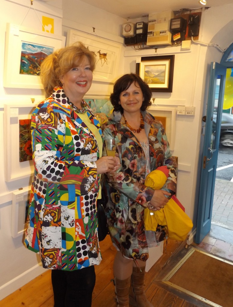 Helen Ferguson and Kathleen Joyce at the party