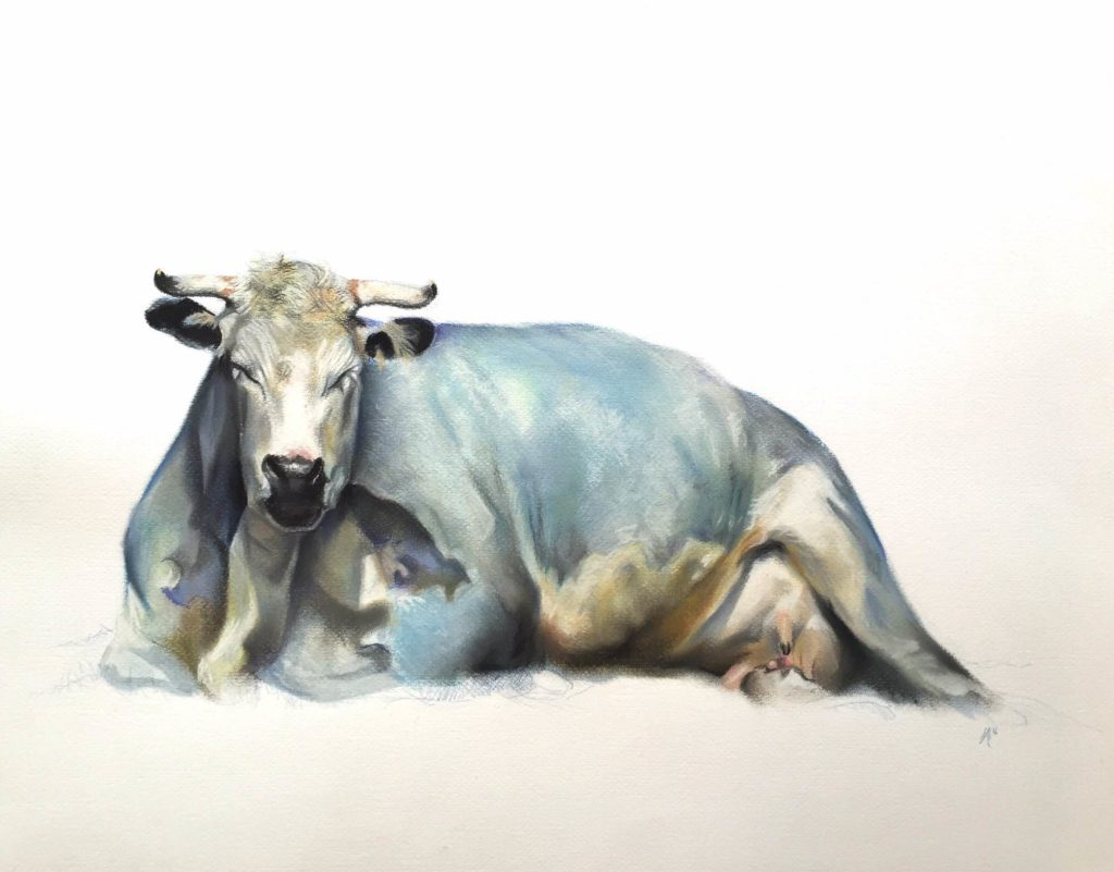 Blue Cow by Aaron Holton