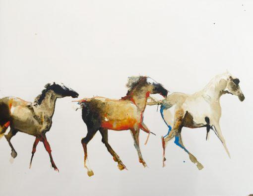 Three Running by Debi O'Hehir