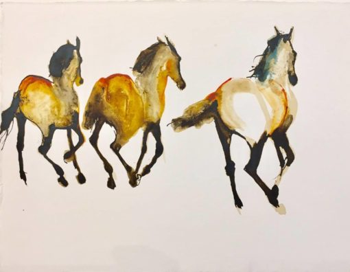 Three Running by Debi O'Hehir