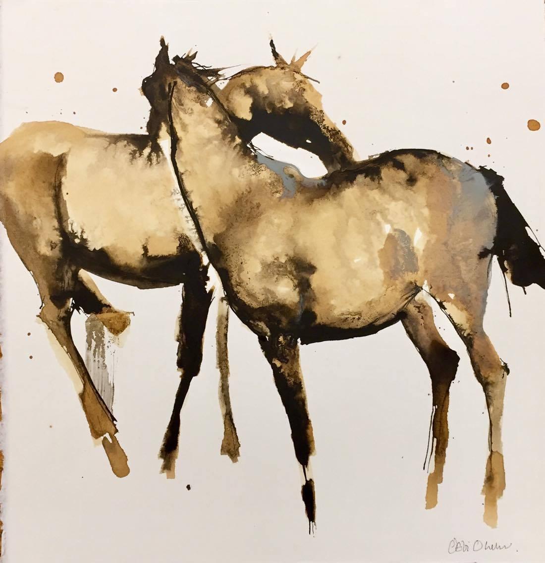 Nuzzling by Debi O'Hehir