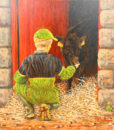 Calf and Red Door by Keith Glasgow