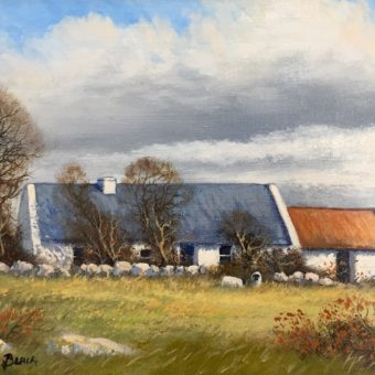 Cottage near Ballyconneely by Manson Blair