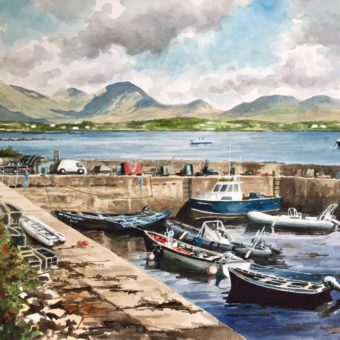 Roundstone Blue Boat by Arnold Gardiner