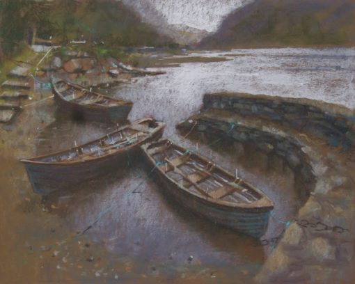 Boats on Lough Inagh by Dave West