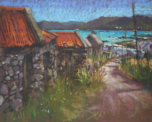 Road to East End Inishbofin by Dave West