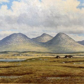 Bogland near Roundstone by Manson Blair