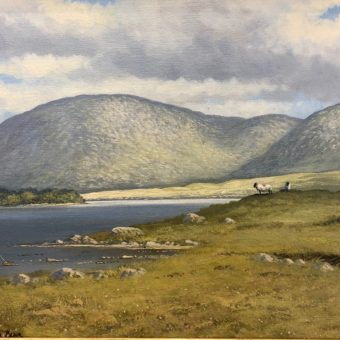 Shores of Lough Inagh by Manson Blair