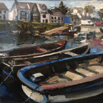 Red and Blue Boat by Paul Walls