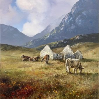 Cattle in Maam Valley by Eileen Meagher