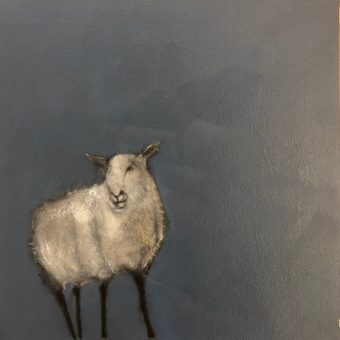Small Blue Sheep I by Heidi Wickham
