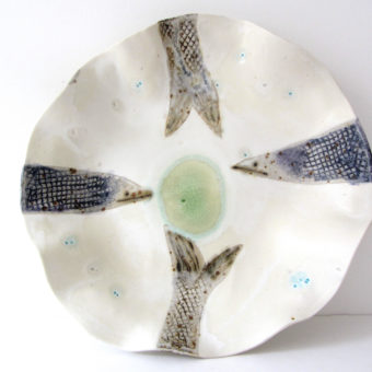 Fish Pond bowl by Claire Finlay