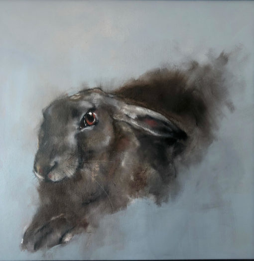 Large hare by Heidi Wickham
