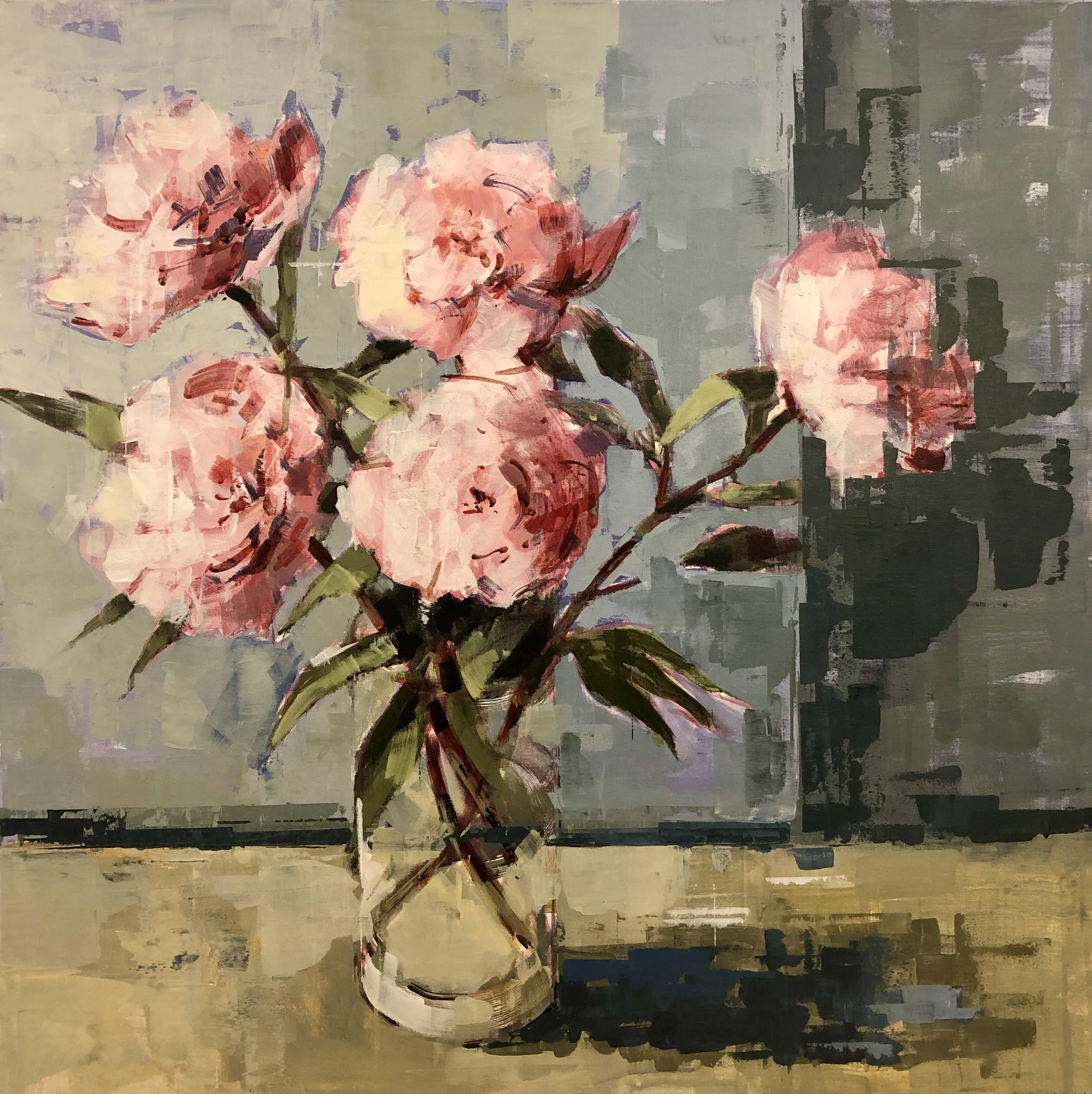 Sunlit Peonies by Bridget Flinn