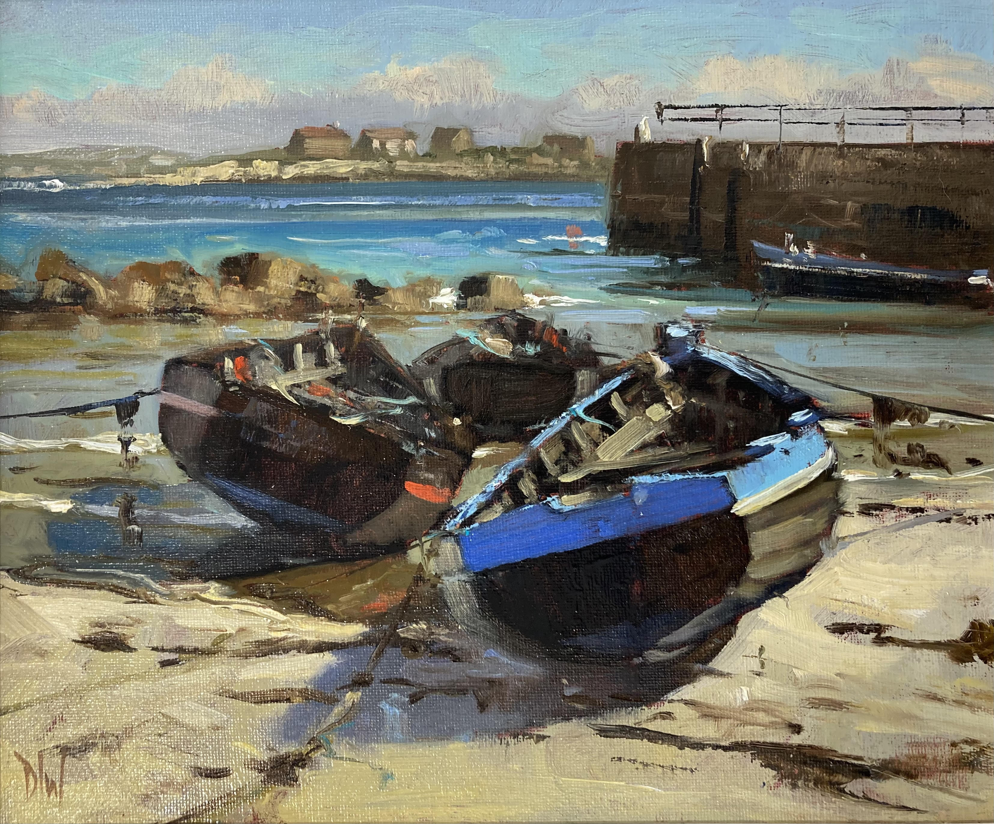 Boats at Ervallagh, Roundstone by Dave West