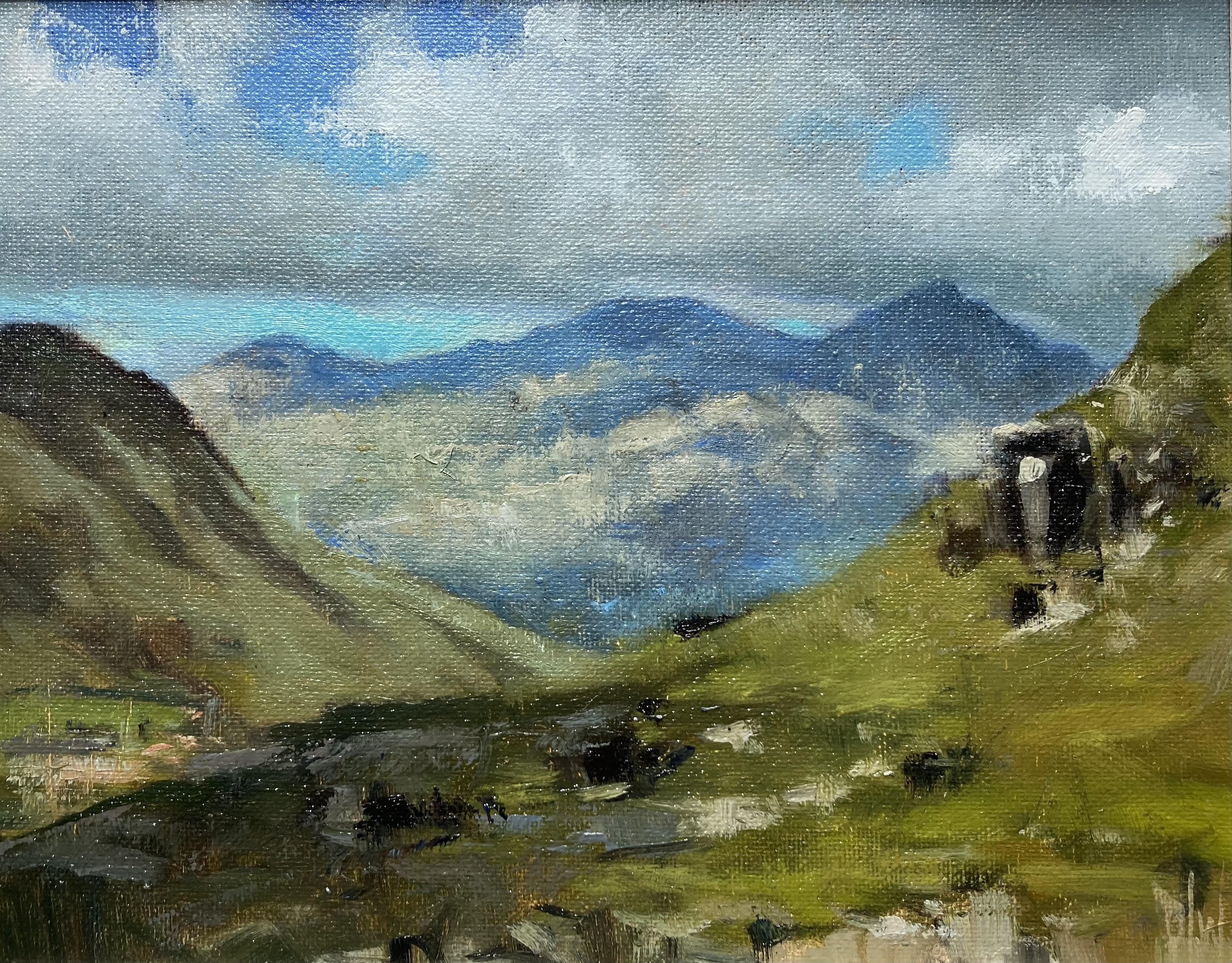 Mountains from Mauméan by Dave West