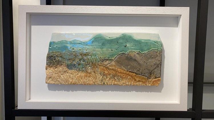 'Bog, Rock, Grasses' by Deborah Watkins